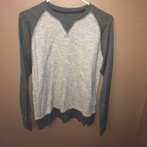 The North Face long sleeved grey shirt
